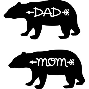 mom dad bear