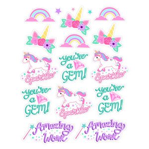unicorn reward stickers