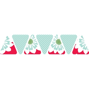floral & polka dot pennants