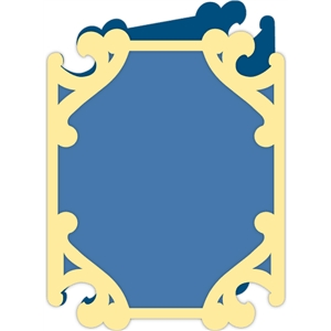 fancy frame card