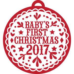 babys first christmas 2017 decoration