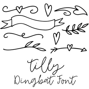 tilly dingbat shapes font