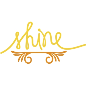 shine (with flourish)