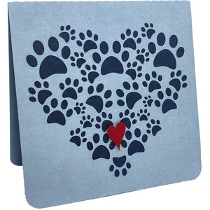 footprint heart card