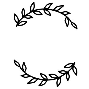 leaves wreath flourish
