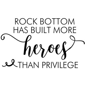 rock bottom quote