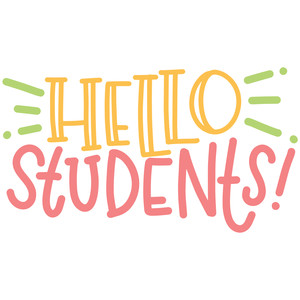 Silhouette Design Store - View Design #272277: hello students