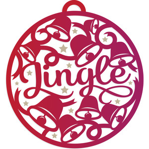 christmas jingle bells decoration bauble