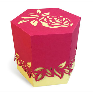 box with a rose
