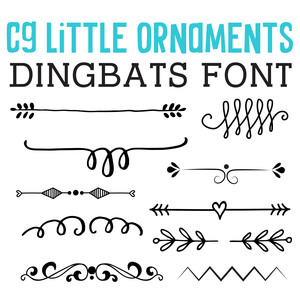 cg little ornaments dingbats