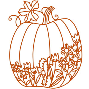 floral pumpkin filigree papercut