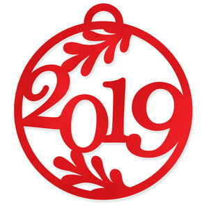happy new year 2019 bauble