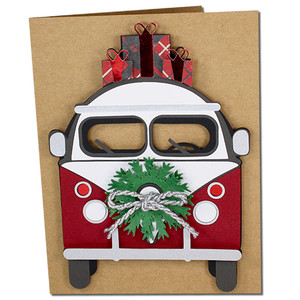 christmas bus card