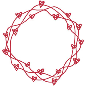 woven hearts wreath or frame