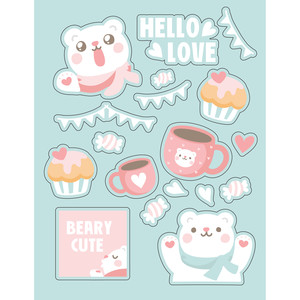 ml valentine bear stickers