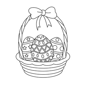 sketch easter basket