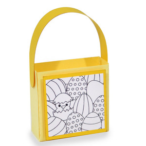 chick coloring treat bag