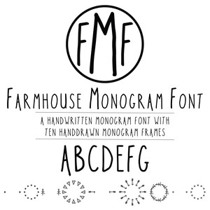 farmhouse monogram font