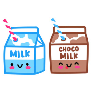 kawaii milk cartons