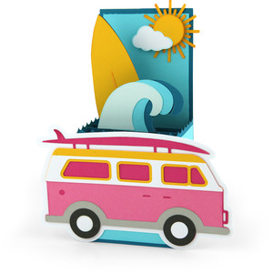 box card surf truck