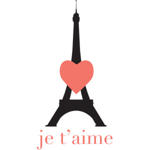 je t'aime and Eiffel tower