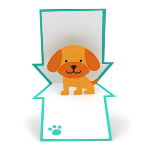 pop up card dog house