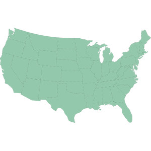 america states map dotted