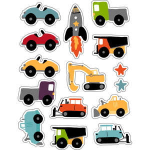ml kid cars and diggers stickers