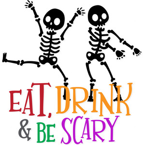 eat, drink and be scary skeleton party