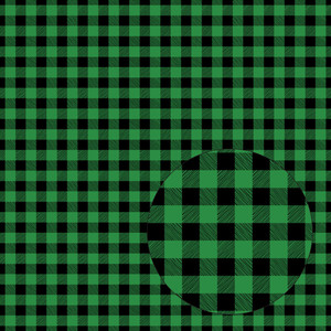 bright green & black buffalo plaid seamless pattern