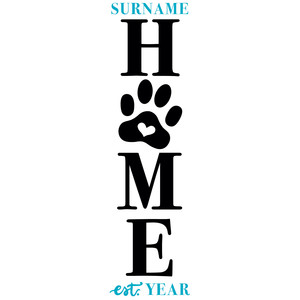 home paw print porch sign
