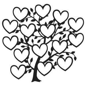 family tree 15 hearts