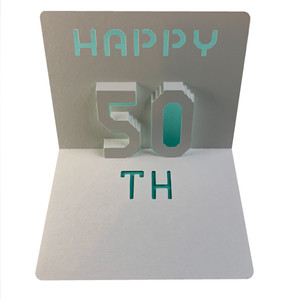 happy 50th popup card