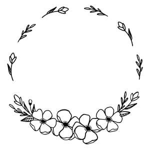 springflower wreath