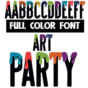 art party color font