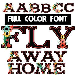fly away home color font