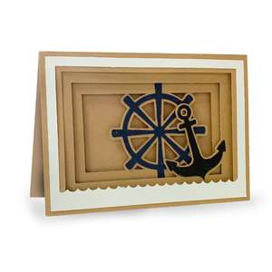 anchor shadow box card