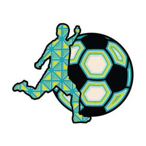 multi layer mandala soccer player
