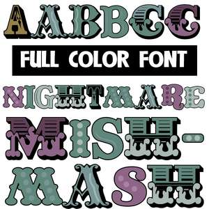 nightmare mishmash color font