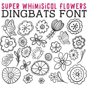 cg super whimsical flowers dingbats
