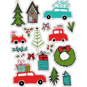 ml christmas fun cars stickers