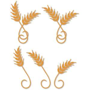 wheat stalks curl flourish set