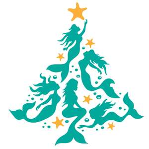 mermaid christmas tree with starfish