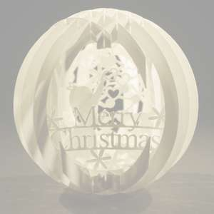 four layered pop up sphere merry christmas type a