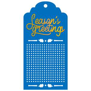 season's greetings tag for cross stitch