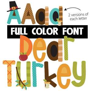 dear turkey color font