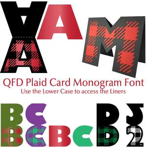 qfd plaid card monogram font