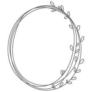 oval partial leaf frame