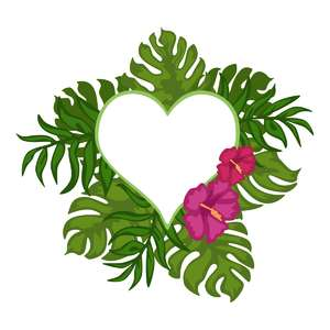 tropical heart frame