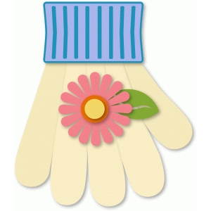 garden glove with flower
